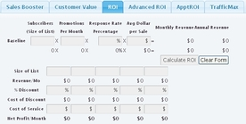 Image of online marketing roi calculator